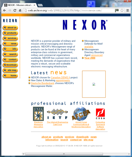 Nexor website Version 3.0