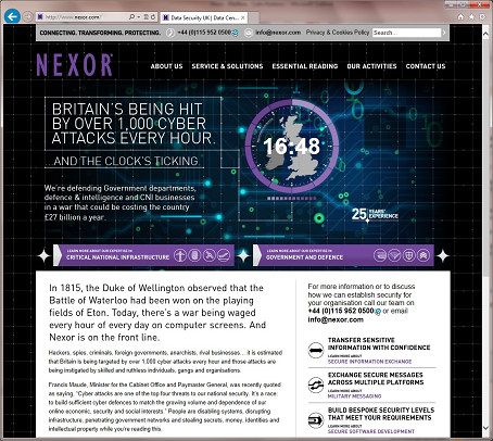 Nexor website Version 8.0
