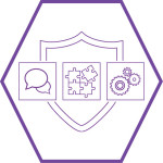 Cybershield Secure Service icon (Purple hexagon)