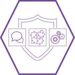Cybershield Secure Service icon (Purple hexagon)
