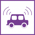 Internet of Things icon purple