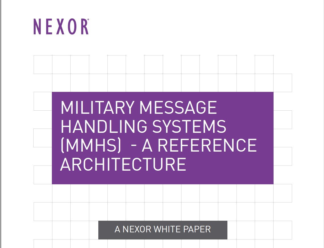 Military Message Handling Systems: A Reference Architecture White Paper