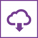 Cloud secure information exchange icon